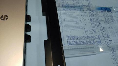 8000数字蓝图机打印工程图纸-惠普PageWide数字蓝图机助悉地国际